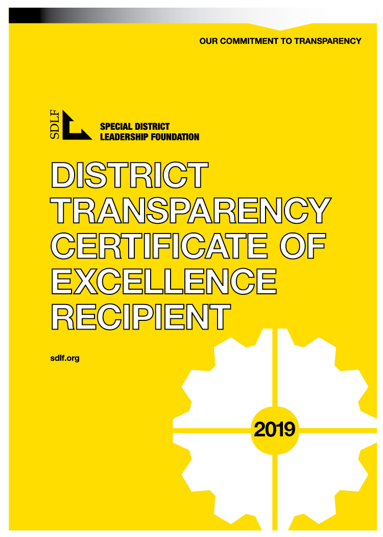 Special District Leadership Foundation Transparency Certificate